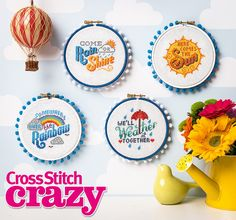Add some sunshine to your stitching with these sweet sayings by Emma Congdon! Find them in issue 200 of Cross Stitch Crazy, on sale in all good newsagents, or available to download to your tablet or smartphone through your app store from 27th Jan!