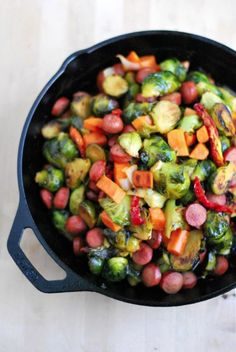 Make this quick and easy brussel sprouts skillet!