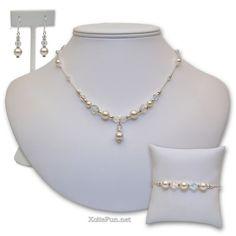 hand+made+bridesmaid+jewelry | Mary Pearl Bridal Jewelry Set : Handmade