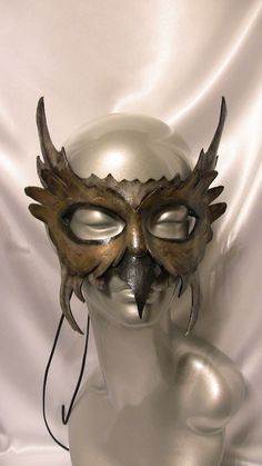 Owl Leather Mask - etsy.com Wow!