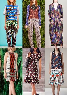 Trends // Patternbank - Resort 2015 Catwalk Print + Pattern Trend Highlights ETHNIC TOUCH       Ethnic Pattern Mixes - Paisley Motifs - Border Layouts - Ikat pattern - Braid and Edging Details - Bold African Motifs – Bandana and Paisley Pattern – Engineered Layouts