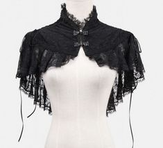 Black lace bolero with lacing elegant aristocrat Punk Rave > JAPAN ATTITUDE - Shop : www. Style Lolita, Lolita Mode, Mode Steampunk, Steampunk Fashion, Gothic Steampunk, Victorian Gothic, Gothic Mode, Gothic Lolita, Edgy Outfits