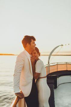 Jessica Soffer and Alex Forden's Wedding Cruise - Photography - Yacht wedding Boat Wedding, Yacht Wedding, Cruise Wedding, Alternative Wedding Venue, Unique Wedding Venues, Nontraditional Wedding, Photo Couple, Couple Photos, Couple Photography
