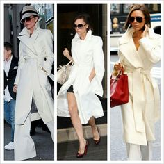 Victoria Beckhams white coats