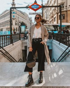 Winter Fashion Outfits, Look Fashion, Spring Outfits, Fall Winter Outfits, Street Style Outfits, Chic Outfits, Trendy Outfits, Classic Outfits For Women, Culottes Outfit