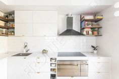 #Furniture #MadeToMeasure #Kitchen #InteriorDesign #FronteDesign Loft Kitchen, Double Vanity, Shelves, Interior Design, Bathroom, Modern, Furniture, Home Decor, Nest Design