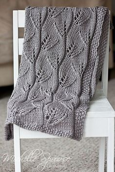 Beautiful, easy to memorize, free pattern for a DK (or larger) weight blanket. Or do fewer repeats with a sock yarn for a cool scarf!