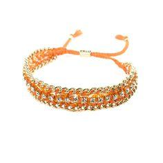 Bling BFF Bracelet in Orange