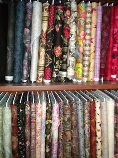 storing fabric in a bookcase