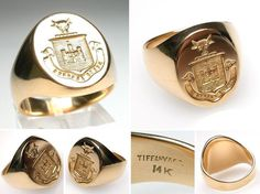 Tendance & idée Joaillerie 2016/2017 Description Family Crest Traditions Can Be Carried on Via Signet Rings!