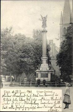 Ak Sowetsk Tilsit in Ostpreußen, Ansicht vom Kriegerdenkmal - 10008878
