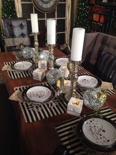 New Years Eve Table Setting From Trees N Trends