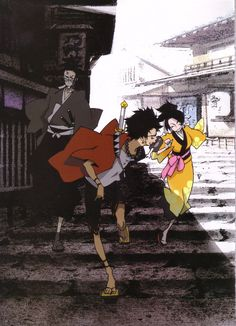 Samurai Champloo  lol I remember seeing this in a magazine and it creeped me out... Now it's one of my favorite animes of all time. P: