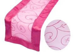 Embroidered Table Runner - Fuchsia Pink