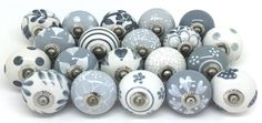 Grey painted knobs