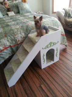 My Husband Made Homemade Stairs For Our Small Dog Yorkie