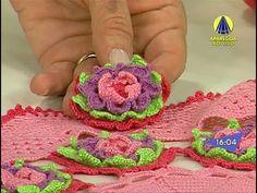 Santa Receita | Flor Carinhosa de Crochê por Maria José Alves - 06 de Ma...