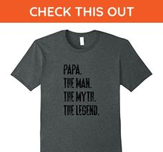 Mens Papa: The Legend   Father's Day Gift   Birthday Gift Dad Large Dark Heather - Holiday and seasonal shirts (*Amazon Partner-Link)