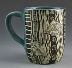 Patricia Griffin Studio: Mug Monday click the image or link for more info. Pottery Mugs, Pottery Bowls, Ceramic Pottery, Pottery Painting, Ceramic Painting, Ceramic Cups, Ceramic Art, Beginner Pottery, Clay Mugs