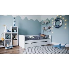Get inspired by Modern Kids' Bedroom Design photo by Wayfair Home. Wayfair lets you find the designer products in the photo and get ideas from thousands of other Modern Kids' Bedroom Design photos. Daybed With Trundle, Baby Bedroom, Girls Bedroom, Bedroom Decor, Bedroom Ideas, Modern Kids Bedroom, Childrens Bedrooms Boys, Ideas Habitaciones, Babies Rooms
