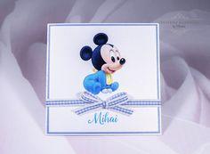 """INVITATII HANDMADE by Mariana: Invitatie botez """"Mickey Mouse"""""""
