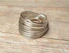 Sterling Silver Wide Band Ring Size 4 5 6 7 8 от DonKatChaJewelry