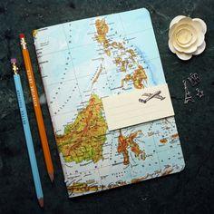 Reise-Geschenk NOTIZHEFT Philippinen Borneo Thailand