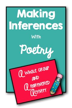 Upper Elementary Snapshots: Making Inferences with Poetry Teaching Poetry, Teaching Language Arts, Teaching Writing, Teaching Ideas, Writing Prompts, Poetry Lessons, Reading Lessons, Reading Skills, Guided Reading