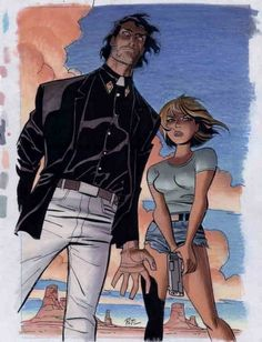 Jesse Custer & Tulip O'Hare by Bruce Timm