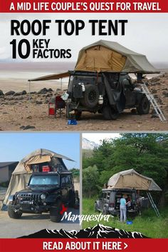 Wonder what it's like to travel and sleep in a roof top tent? Read about the 10 key factors and realities of travelling with a rooftop tent Diy Camping, Family Camping, Camping Gear, Camping Hacks, Camping Storage, Minivan Camping, Camping Guide, Camping Trailers, Camping Essentials