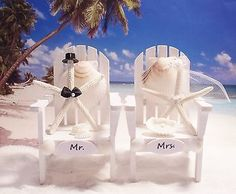 #Starfish wedding cake #topper- adirondack chair cake topper #white- personalized,  View more on the LINK: http://www.zeppy.io/product/gb/2/162066277246/