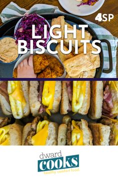 These flaky, buttery, and surprisingly easy to make WW friendly, skinny biscuits will be your new favorite weekend breakfast treat. At per biscuit for these are perfect. Healthy Comfort Food, Healthy Meal Prep, Healthy Cooking, Healthy Eating, Low Calorie Breakfast, Breakfast Time, Breakfast Recipes, Low Calorie Recipes, Ww Recipes