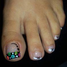 Manicure, Pedicure Nail Art, Toe Nail Art, Cute Pedicure Designs, Toe Nail Designs, Pretty Toe Nails, Love Nails, Summer Acrylic Nails, Best Acrylic Nails
