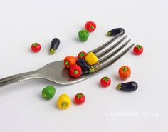 Miniature vegetables Craft Food Polimer clay