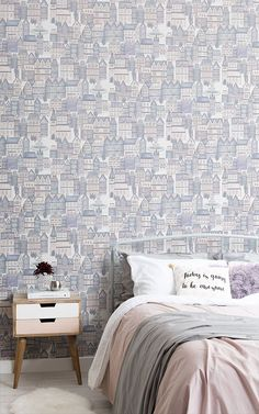 Style a beautifully enchanted room for your little one with this magical collection of Fairytale Wallpaper, perfect for a little princess' bedroom. Princess Wallpaper, Fairytale Castle, Wallpaper Bedroom, Bedroom Wallpaper Murals, Pattern Wallpaper, Bright Wallpaper, Mural, Mural Wallpaper, Kids Wallpaper