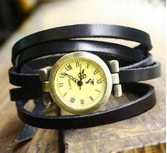 Leather wrap watchunisex wristwatchmen leather by luckystargift, $14.98