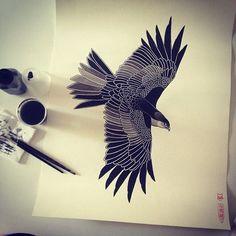 Eagle tattoo inspiration neo traditional   by Bruna Yonashiro