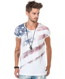Adrian Hammond - Simon Printed Flag White