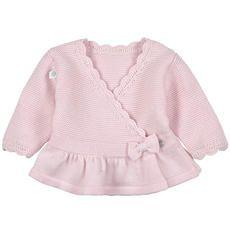 Absorba - Cardigan cache-coeur en maille coton - Rose clair - 104425