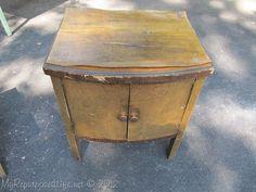 Veneer repair tute.   vintage record cabinet (2)