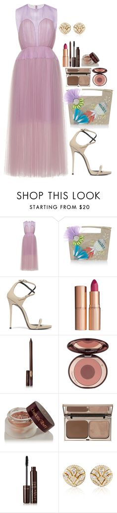 """Paper Cocktail Party"" by imadeintheuk ❤ liked on Polyvore featuring Delpozo, Giuseppe Zanotti, Charlotte Tilbury, Blue Nile, LFW, outfits and giuuseppezanotti"