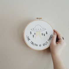 The X Files Embroidery by buddhistbird on Etsy