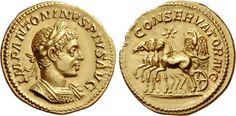 NumisBids: Numismatica Ars Classica Auction 99, Lot 25 : The Roman Empire Elagabalus, 218 – 222. Aureus 220, AV...