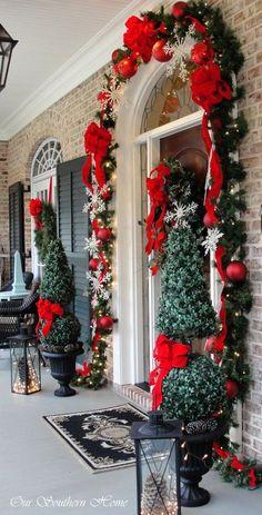 A Noël, on décore aussi devant sa porte !