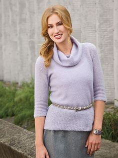 Lilac Mist Sweater Size: Includes Woman's S through 3XL. Made with lace-weight yarn and size D/3/3.25mm hook.