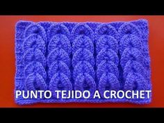 Punto tejido a crochet # 9 para bufandas y cobijas de bebe paso a paso en video tutorial // Татьяна Саранина Puff Stitch Crochet, Bobble Crochet, Crochet Diy, Bobble Stitch, Crochet Chart, Crochet Stitches Patterns, Crochet Designs, Stitch Patterns, Crocodile Stitch