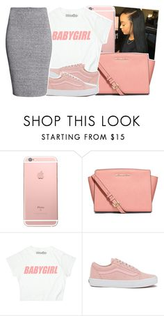 """Babygirl"" by desirenelle ❤ liked on Polyvore featuring MICHAEL Michael Kors, Vans and H&M"