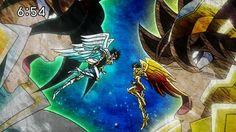 Resultado de imagen para titan vs seiya de pegaso saint seiya omega