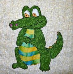Looking for your next project? You're going to love Baby Crocodile Applique Block by designer MsPDesignsUSA.