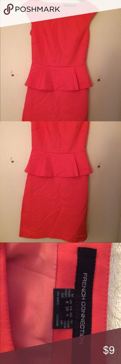 Size 16 red peplum dress
